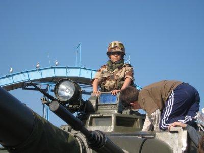 moi sur un AMX30 à Palavas en 2009