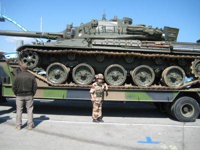 elle est pas belle la vie, devant l'amx 30 de Guilhem en 2009