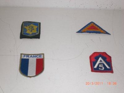 écusson 2 eme DB France 5TH ARMY et 7th ARMY de PATTON