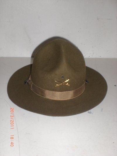 ma reproduction de chapeau à 4 coins de la cavalry us 1918 manque les glands de chêne