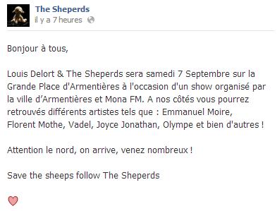Actu du 06.09.13 The Sheperds en concert