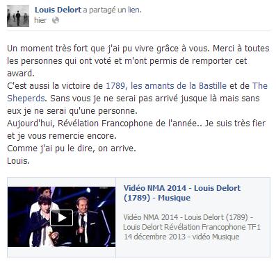Actu du 18.12.13 Facebook + Instagram + Des nouvelles de l'album