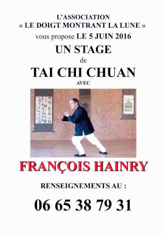 STAGE AVEC FRANCOIS HAINRY (YOU LI FA) A NANTES. Nombre de places limité...