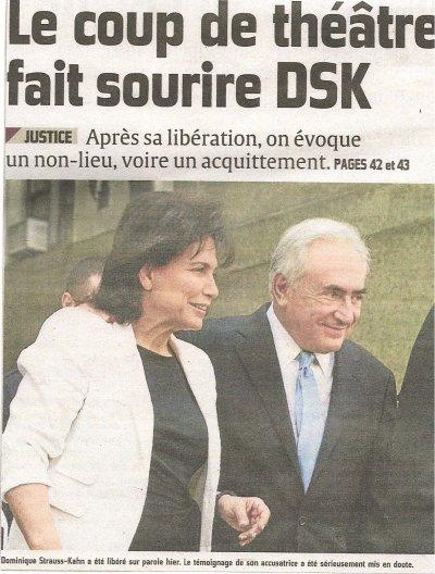 POUR les détracteurs DSK est innocent
