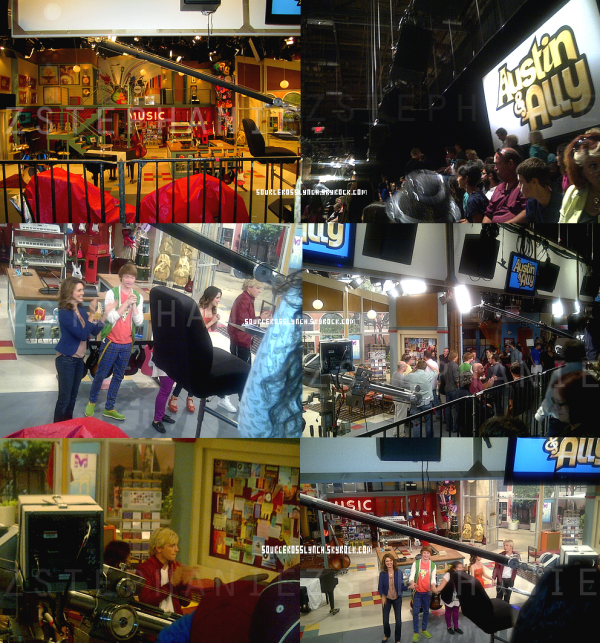 ++   21 Août .   Découvre des stills d'un tout nouvel épisode d'Austin&Ally + Photos sur le set du tournage + tweet de Ross  +