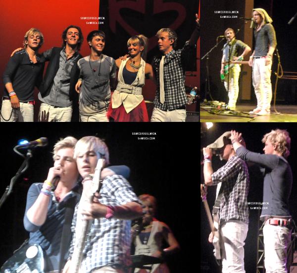 ++   25 Août .   Ross et les R5 ont donnés un concert il y'a quelques jours à Queen Creek ( découvre les photos ) + Les R5 ont postés cette vidéo  +