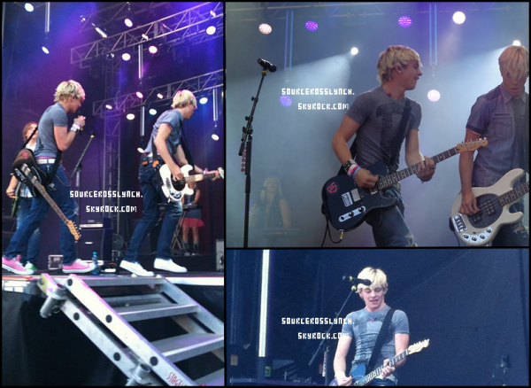 ++   1e Septembre .   Ross et les R5 étaient à Vancouver hier soir pour donner un concert + Ross et les R5 sont actuellement à Chicago (où ils donneront un concert ce soir) + Ross a été défié par Radio Disney.  +