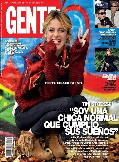 Tini en couverture du magazine Gente