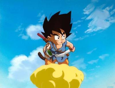 Sangoku petit avec son nuage supersonic dragon ball - Petit sangoku ...