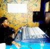 dans le studio