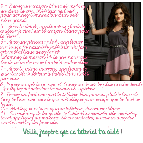 Tutoriel Maquillage: Aria dans Pretty Little Liars