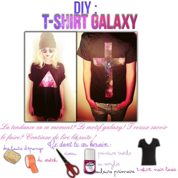 DIY: T-shirt Galaxy