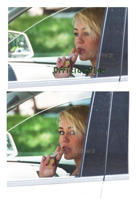 Notre belle miley a ete vu durant la journee du 16 aout dans sa voiture s'allumant une cigarette a philadelphie