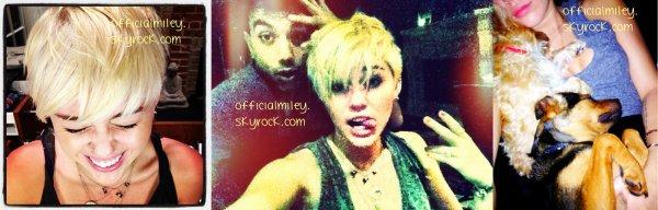 Des nouvelles photos de la belle Miley provenant de Twitter &  une avec un fan