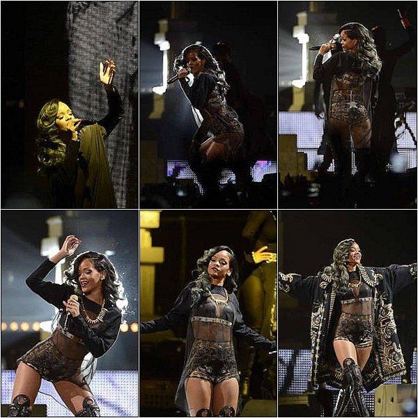 22.07.2013 : Rihanna s'est produite hier soir au Ericcson Globe à Stockholm en Suède.