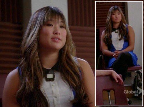 Tina, robe bleu-blanc