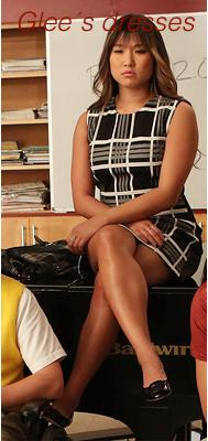 Tina, robe noir gros carreaux blancles