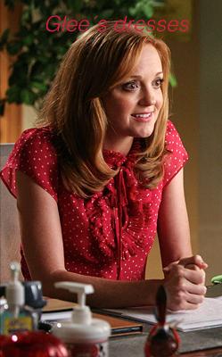 Emma, chemise rouge a pois blancs