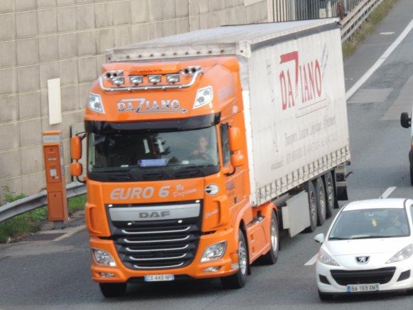 Daf xf euro 6 des transport Daziano !