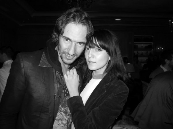 Irina Lazareanu and Thomas Hayo at the Garage party at Bristol.