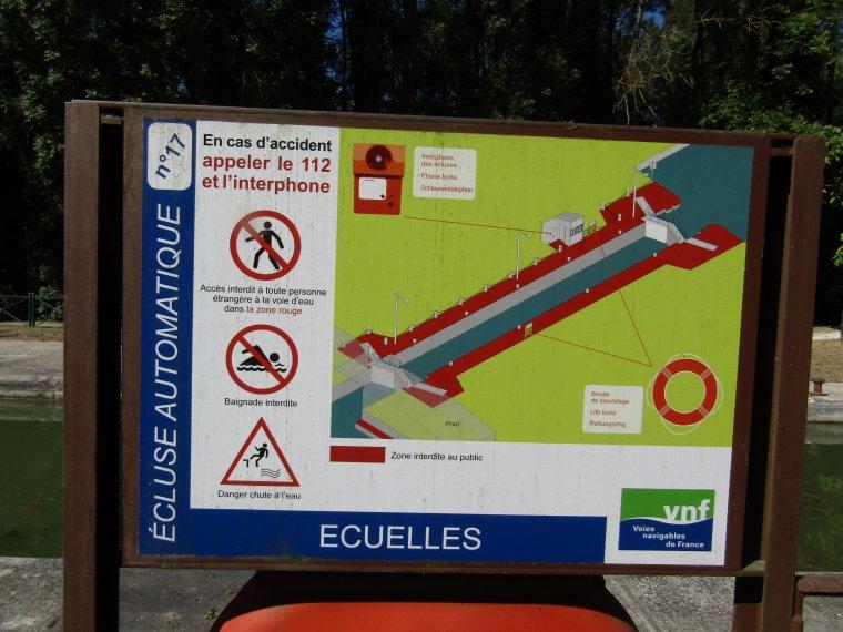 ECLUSE D'ECUELLES......77..........N°17......CANAL DU LOING.........SEPTEMBRE 2018
