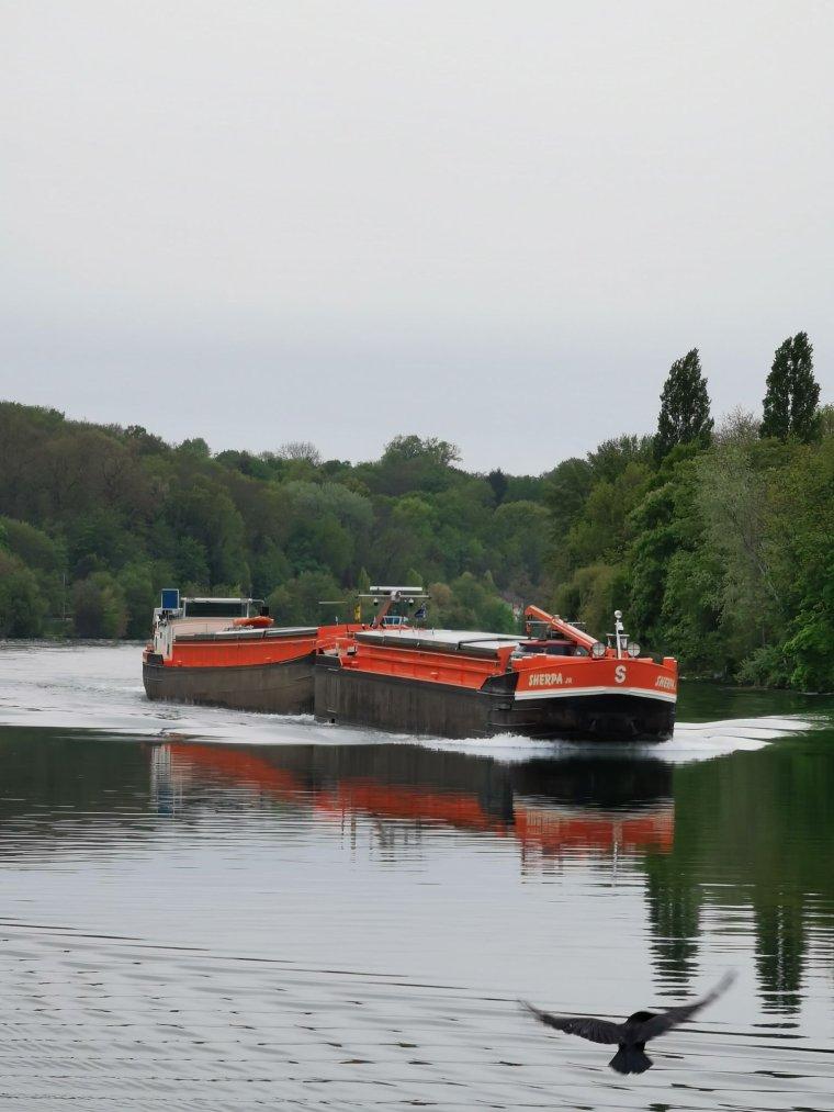 SHERPA et sa barge....VIVES EAUX.....Région parisienne.....2021....Merci Jimmy