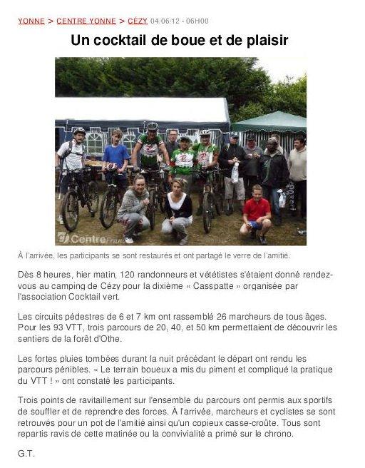 """03 Juin 2012 """" La Casspatte"""" ( Les photos)"""
