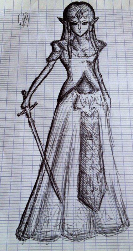 Voici un dessin de la Princesse Zelda ;)
