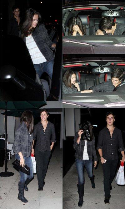Selena & David Henrie au restaurant Philippe Chow à Hollywood, le 27/08/10