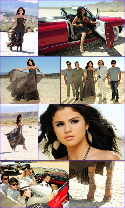 "Photos du clip de Selena Gomez - A Year Without Rain & Selena sortant d'un restaurant mexicain ""Red O"" avec sa mère Mandy, le 1/09/10"