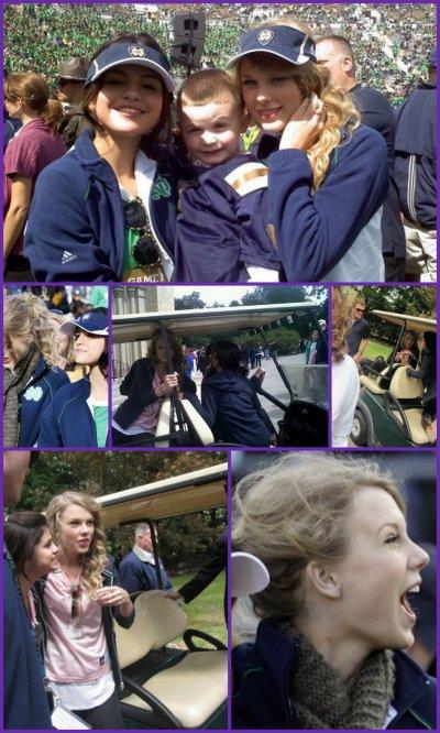 """Selena était à """"Notre Dame Football Game"""" en compagnie de Taylor Swift, le 4/09/10"""