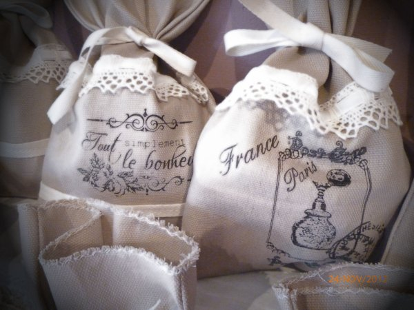 Petits sacs avec tampons personnalisés......