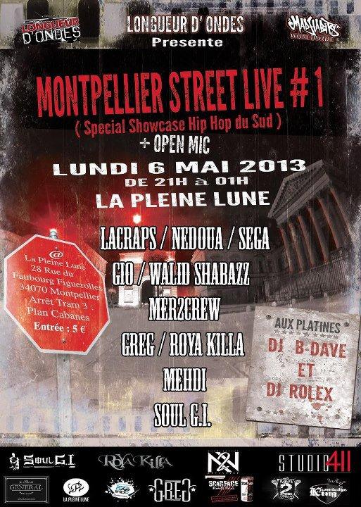 MONTPELLIER STREET LIVE # 1    (Showcases + Open Mic)