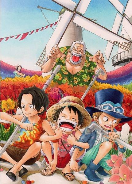 Garp Ace Luffy Sabo & Makino