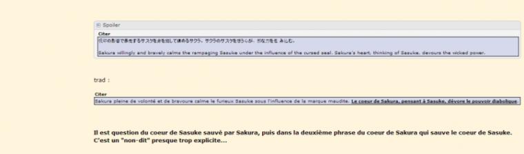 Article spécial *SasuSaku* Databook 2 *o*