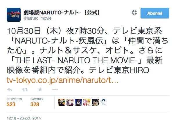 Info Naruto scan 698 + sortie de 2 CHAPITRES Naruto en même temps + The Last Trailer