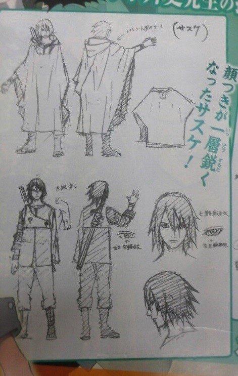 The Last - Sasuke croquis.... ET Kakashi