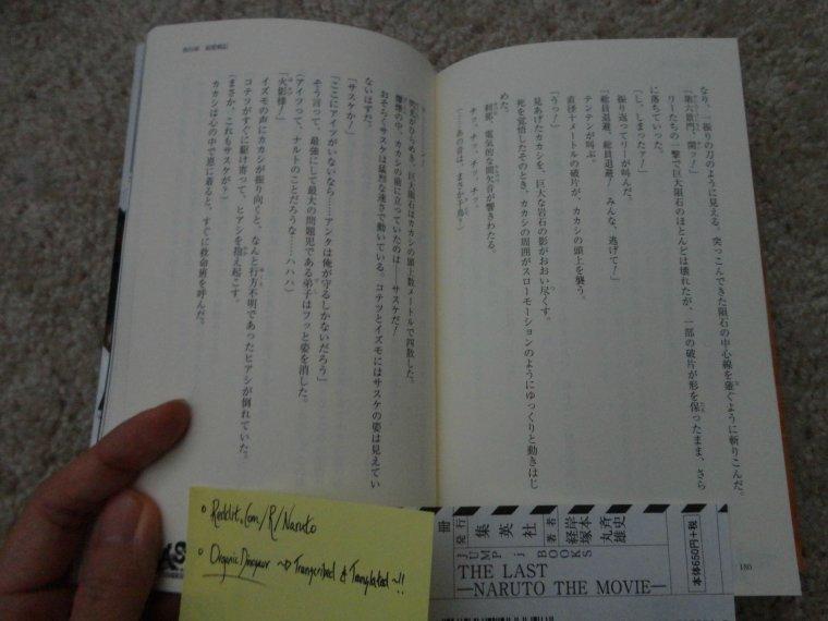 Page 170, et 180-181 du Novel de The Last - Partie Sasuke par OrganicDinosaur