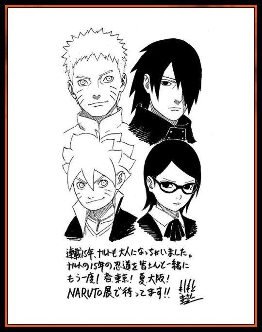 Sasuke/Sarada + Naruto/Boruto by Kishi-sensei ! *0*