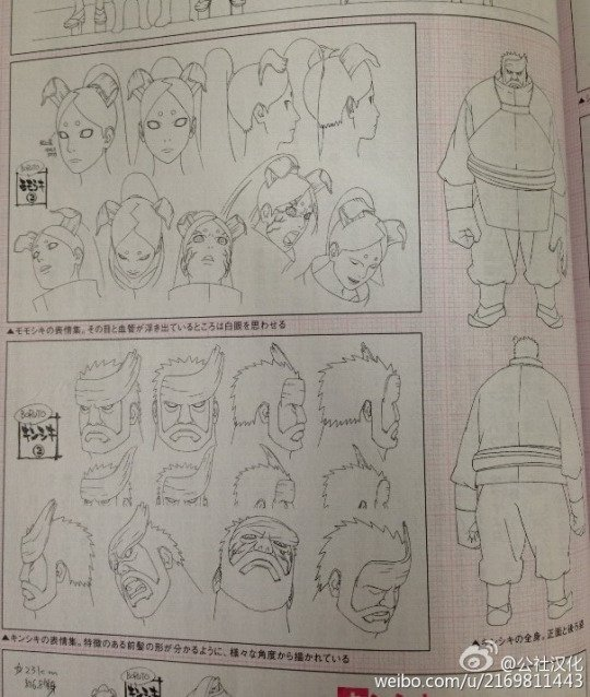Boruto Movie - Model sheet (Momoshiki & Kinshiki)