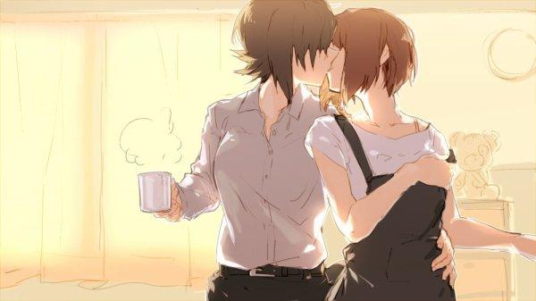 Un kiss av un bon café et la jrnee debute bien
