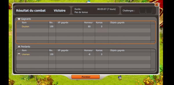 Petit screen pvp :P