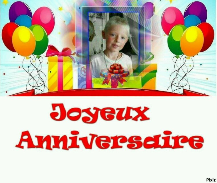 Joyeux anniversaire a mon petit fils 12 ans deja