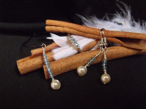 "bijoux en perles de swarowski "" sauf parure perle rouge et blanc """