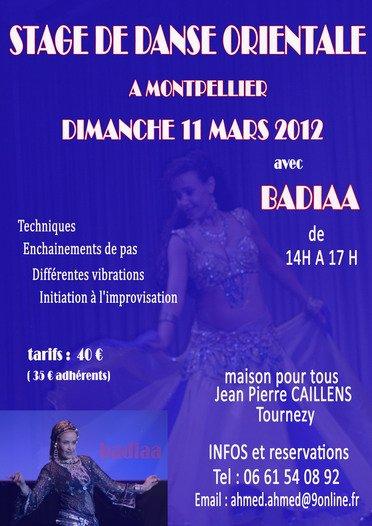 Stage avec Badiaa LEMNIAI le dimanche 11 mars