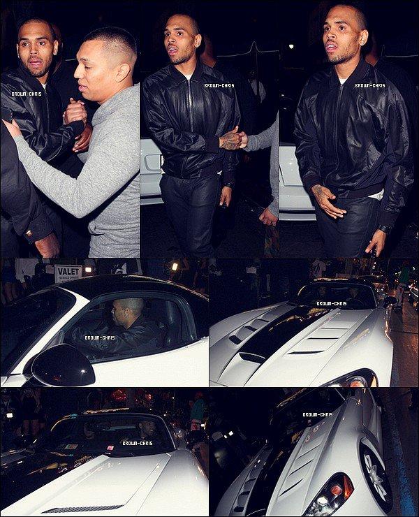 - •-  Dans la nuit du 26 juin Chris a été aperçu quittant le Supper Club. (Los Angeles)   -