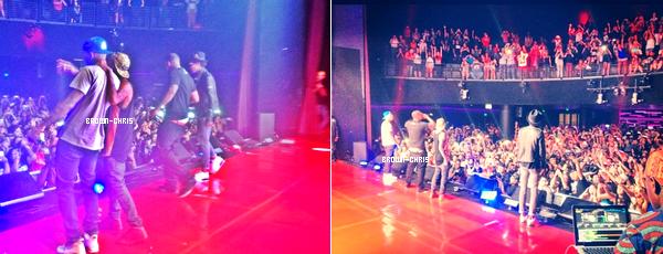 - 4 SEPT. : Chris était invité au concert de Tyga au Club Nokia, Wiz Khalifa, Game et Kirko Bangz étaient aussi présents. (Los Angeles) -