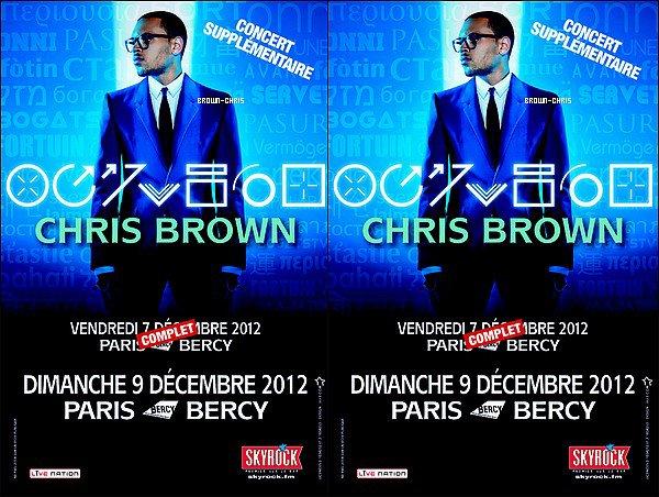 - NEWS. : Chris sera présent le 9 décembre prochain à Bercy pour un deuxième concert !  -