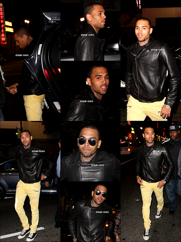 - 30 OCT. : Chris a été aperçu arrivant au Supperclub. (Los Angeles)  TOP/FLOP?  -