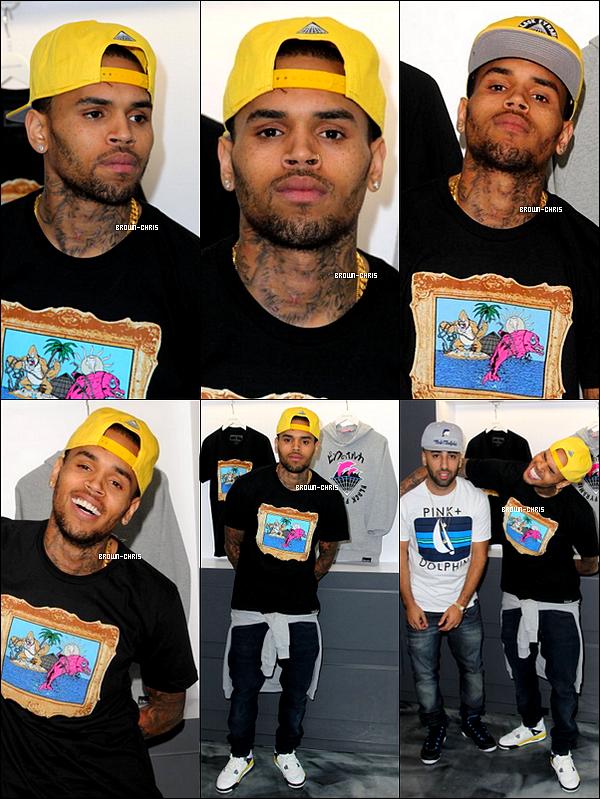 """- 07 OCT. : Chris au lancement de sa nouvelle marque """"Black Pyramid"""" en collaboration avec la marque """"Pink Dolfin"""" ! (Los Angeles)  TOP/FLOP?  -"""